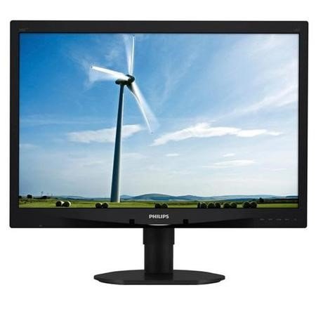 "Philips 240S4LPMB/00 240S4L Verdi S-Line Black 24""W 16.10 W-LED 1920x1200 TN 170/160 CR10 1000_1 5ms Speakers VESA Mount Height Adjust 110 MM Pivot VGA / DVI-D"