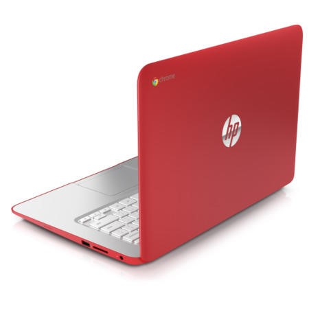 Refurbished Grade A1 HP Chromebook 14-q001sa 4GB 16GB SSD 14 inch Chromebook Laptop in Coral Peach