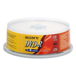DVD-R 4.7GB Spindle 16x 25pk  Blank Disks