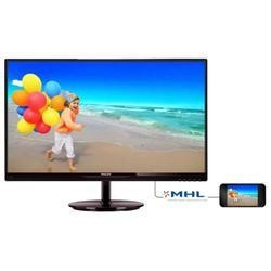 "a1 Refurbished GRADE A1 - As new but box opened - Philips 274E5QHSB/00 27"" IPS LED 1920x1080 VGA HDMI MHL Glossy Black Monitor"