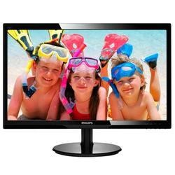 "GRADE A1 - As new but box opened - Philips 246V5LHAB/00 24"" LED 1920x1080 VGA HDMI  Speakers Glossy Black"