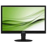 "Philips 241S4LCB/00 24"" Brilliance LED 1920x1080 VGA DVI Height Adjust Pivot Black Monitor Full HD display with SmartImage"