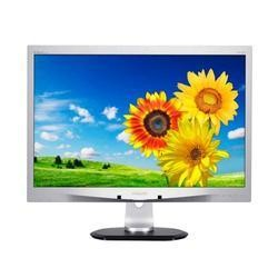 "Philips 240P4QPYES/00 24"" LED IPS Monitor - Silver - 1920x1200 VGA DVI Display Port Height Adjust Speakers Monitor"