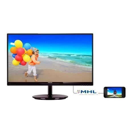 "Philips 234E5QDAB/00 237E5Q Edge E-Line Glossy Black 23"" 16.9 W-LED 1920x1080 Speakers VESA Mount Tilt VGA DVI-D HDMI"