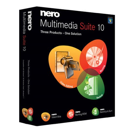 Nero Multimedia Suite 10 Software (Nero Vision Xtra/Nero Burning ROM/BackItUp & Burn) 10010000/928