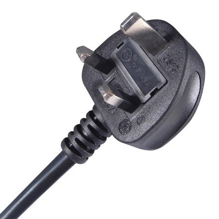 2M UK Plug to 2 pin C7 Power Cable - Black