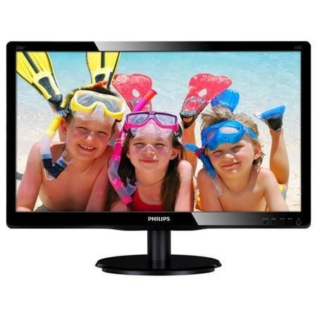 "Philips 22"" LCD Monitor LED Backlit 1920 x 1080 Full HD 16_9 Black Bezel VESA 100x100 No Speakers."