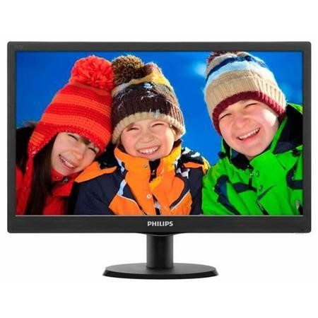 "GRADE A1 - As new but box opened - Philips 193V5LSB2/10 18.5"" LED 1366x768 VGA Black Monitor"