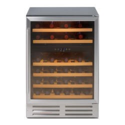 Stoves 600WC Mk2 46 Bottle 60cm Wine Cooler in Silver