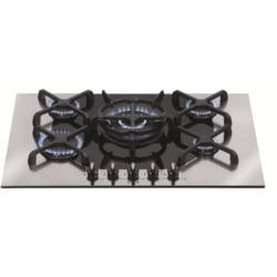 CDA 4Q5SS Q-style 72cm Five Burner Gas-on-glass Hob Stainless Steel