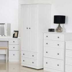 Welcome Furniture Pembroke White 2 Door 2 Drawer Wardrobe