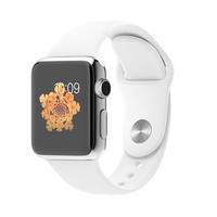 Apple Watch Series 1 38 mm Stainless Steel with White Sport Band