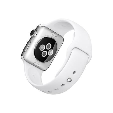MJ302B/A Apple Watch Series 1 38 mm Stainless Steel with White Sport Band