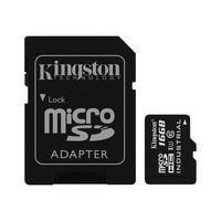 Kingston 16GB MicroSDHC Class 10 Card with Adapter