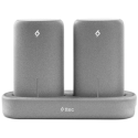 2BB148G ttec PowerStones Trio Powerbank Set - 2 x 5000mAh - Grey w/Charging Dock