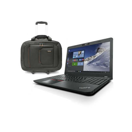 Lenovo E560 Core i5-6200U 8GB 192GB SSD DVD-RW 15.6 Inch Windows 7 Professional Laptop + ElectrIQ Voyage Backpack Roller Bag