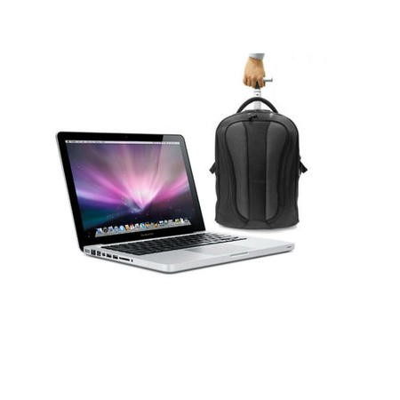 Apple MacBook Pro 5th Gen Core i5 8GB 128GB SSD 13.3 inch Retina Intel Iris 6100 Laptop + ElectrIQ Voyage Backpack Roller Bag