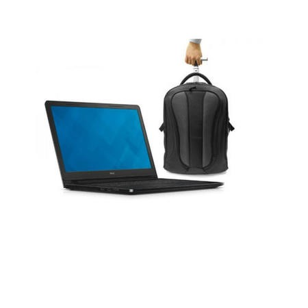 Dell Vostro 3558 Core i3-5005U 2GHz 4GB 500GB 15.6 Inch Windows 7 Professional / Windows 7 Pro Laptop + ElectrIQ Globetrotter Trollley Bag