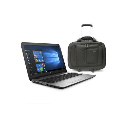HP 250 G5 Core i7-6500U 2.5GHz 8GB 256GB SSD DVD-RW 15.6 Inch Windows 7 Professional Laptop + ElectrIQ Voyage Backpack Roller Bag