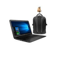 HP 250 Core i5-5200U 2.2GHz 4GB 500GB DVD-SM 15.6 Inch Windows 10 Laptop + ElectrIQ Voyage Backpack Roller Bag