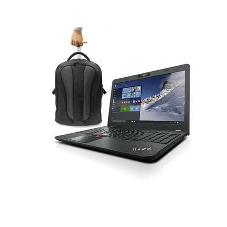 Lenovo E560 Core i5-6200U 8GB 192GB SSD DVD-RW 15.6 Inch Windows 7 Professional Laptop + ElectrIQ Globetrotter Trolley Bag