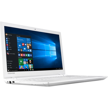 "Refurbished Toshiba Satellite C55-C-183 15.6"" Intel Pentium N3700 1.6GHz 8GB 2TB Windows 10 Laptop in White"