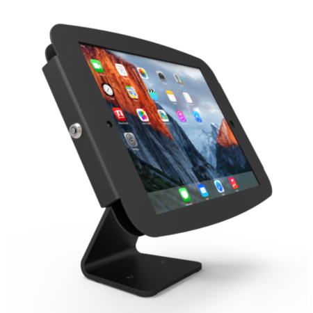 Maclocks Table kiosk 360' rotate and tilt with iPad Executive Enclosure BLACK. Fits iPad 2 3 4 & iPa