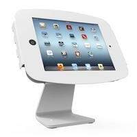 Maclocks Table kiosk 360' rotate and tilt with iPad Space Enclosure WHITE. Fits iPad 2 3 4 & iPad Ai