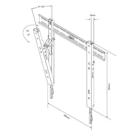 Titan MT6550 Tilting Wall Bracket - Up to 80 Inch