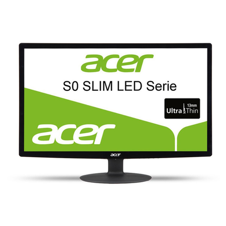 "Refurbished Acer S220HQL 21.5"" Full HD LED Monitor"