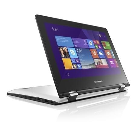 "Refurbished Lenovo Yoga 300-11IBY 11.6"" Intel Celeron N2840 2.1GHz 2GB 32GB Touchscreen Convertible Windows 8.1 Laptop in White"