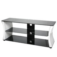 Vivanco Sirocco Black and White TV Stand - Up to 55 Inch