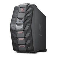 Refurbished Acer Predator G3-710 Intel Core i5-6400 2.7GHz 8GB 1TB DVD-RW Dedicated Radeon R9 360 2GB Graphics Windows 10 Gaming Desktop