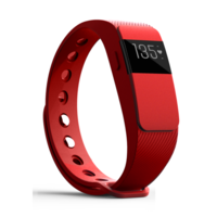 iQ FIT HR 2.0 Activity Fitness Tracker with Heart Rate + Extra Red Wristband