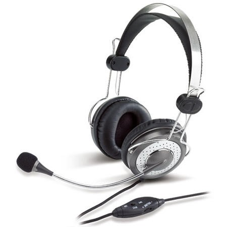 GRADE A2 - Genius HS-04SU Luxury Noise Cancelling 3.5mm Headset