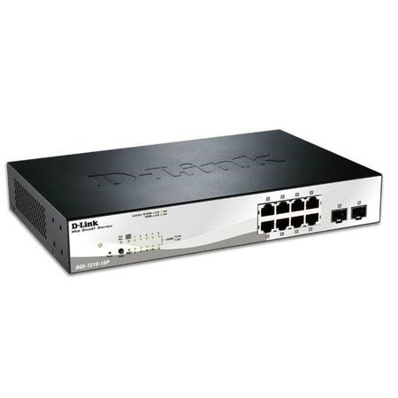 GRADE A1 - As new but box opened - 10-Port Gigabit Smart Switch with 2 SFP ports