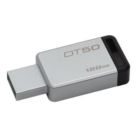 Kingston Technology DataTraveler 50 128GB 128GB USB 3.0 3.1 Gen 1 Type-A BlackSilver USB flash drive