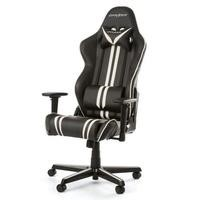 DXRacer Racing Series Gaming Chair in Black with White Stripes
