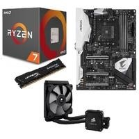 AMD Ryzen 1800X + Aorus Gaming 5 + HyperX Savage 8GB + Corsair H60 Bundle