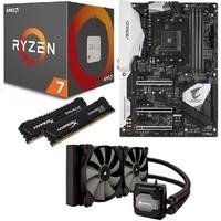 AMD Ryzen 1800X + Aorus Gaming 5 + HyperX Savage 16GB + Corsair H110i Bundle