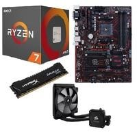 AMD Ryzen 7 1800X + Prime B350 Plus + HyperX Savage 8GB + Corsair H60 Bundle