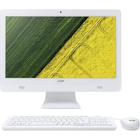 "A1/DQ.B6XEK.002 Refurbished Acer Aspire C20-720 Celeron J3060 4GB 1TB 19.5"" Windows 10 All In One PC in White"