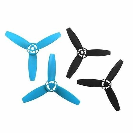 3520410027956 Parrot BeBop Spare Propellers In Blue & Black Full Replacement Set