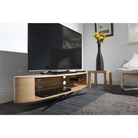 "Techlink EL140LO Ellipse TV Stand for up to 70"" TVs - Light Oak"