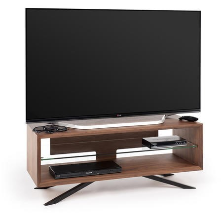 "Techlink AA110W Arena TV Stand for up to 55"" TVs - Walnut"