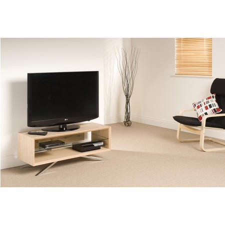 "Techlink AA110L Arena TV Stand for up to 55"" TVs - Light Oak"