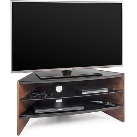 "Techlink RV100W Riva Corner TV Stand for up to 50"" TVs - Walnut"