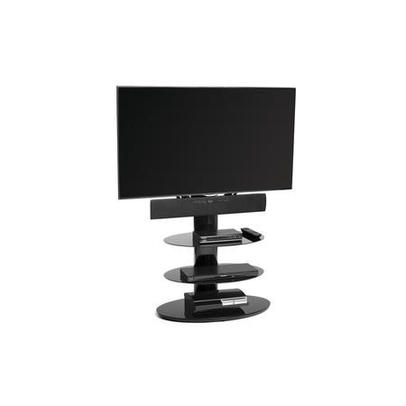 Techlink ST90E3 Strata Black TV Stand with Bracket