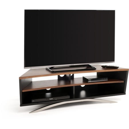 "Techlink PR130SBW Prisma TV Stand for up to 65"" TVs - Black/Walnut"