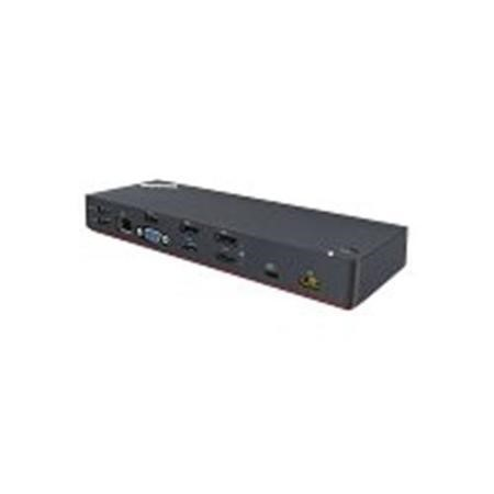 Lenovo ThinkPad Thunderbolt 3 Dock - Port replicator - Thunderbolt 3 - GigE - 135 Watt - for ThinkPad P51s T470 T470s T570 X1 Carbon X1 Yoga ThinkPad Yoga 370